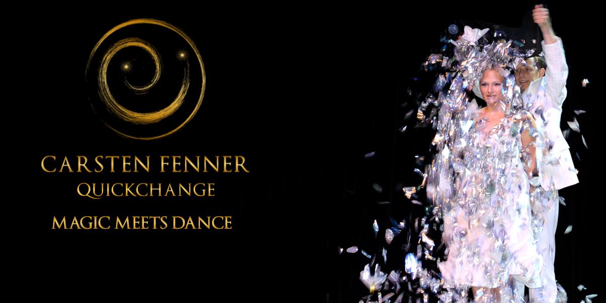 Magier und Illusionist Carsten Fenner präsentiert Magic meets Dance - die QuickChangeShow